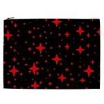 Bright Red Stars In Space Cosmetic Bag (XXL)  Front