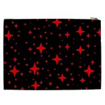Bright Red Stars In Space Cosmetic Bag (XXL)  Back