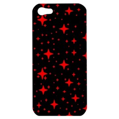 Bright Red Stars In Space Apple Iphone 5 Hardshell Case by Costasonlineshop