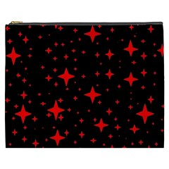 Bright Red Stars In Space Cosmetic Bag (xxxl)  by Costasonlineshop