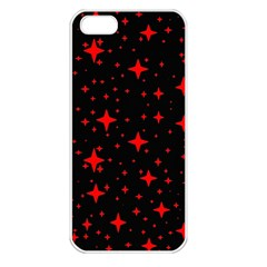 Bright Red Stars In Space Apple Iphone 5 Seamless Case (white)