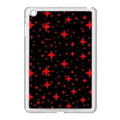 Bright Red Stars In Space Apple Ipad Mini Case (white) by Costasonlineshop