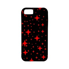 Bright Red Stars In Space Apple Iphone 5 Classic Hardshell Case (pc+silicone)