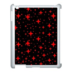 Bright Red Stars In Space Apple Ipad 3/4 Case (white)