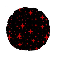 Bright Red Stars In Space Standard 15  Premium Round Cushions by Costasonlineshop