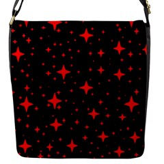 Bright Red Stars In Space Flap Messenger Bag (s)