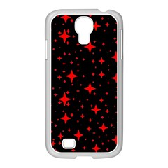Bright Red Stars In Space Samsung Galaxy S4 I9500/ I9505 Case (white)