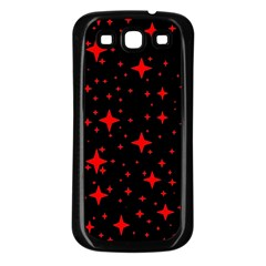 Bright Red Stars In Space Samsung Galaxy S3 Back Case (black)