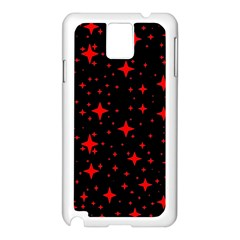 Bright Red Stars In Space Samsung Galaxy Note 3 N9005 Case (white)