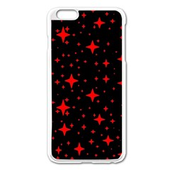 Bright Red Stars In Space Apple Iphone 6 Plus/6s Plus Enamel White Case by Costasonlineshop