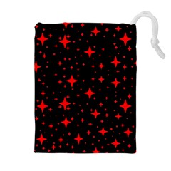 Bright Red Stars In Space Drawstring Pouches (extra Large)