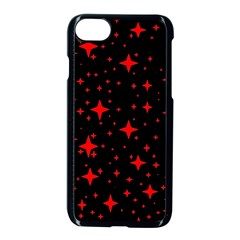 Bright Red Stars In Space Apple iPhone 7 Seamless Case (Black)
