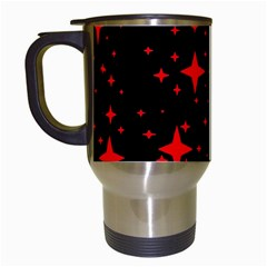 Bright Red Stars In Space Travel Mugs (white)