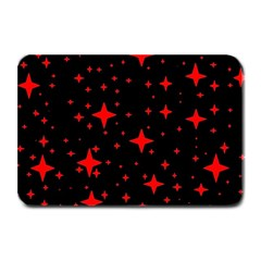 Bright Red Stars In Space Plate Mats