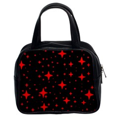 Bright Red Stars In Space Classic Handbags (2 Sides)