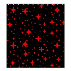 Bright Red Stars In Space Shower Curtain 66  X 72  (large)