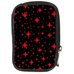 Bright Red Stars In Space Compact Camera Cases by Costasonlineshop