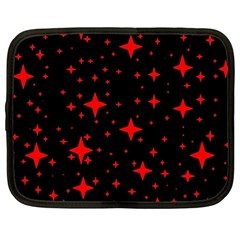 Bright Red Stars In Space Netbook Case (xl)