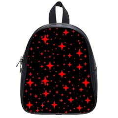 Bright Red Stars In Space School Bags (small)  by Costasonlineshop