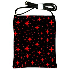 Bright Red Stars In Space Shoulder Sling Bags