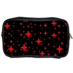 Bright Red Stars In Space Toiletries Bags 2 Side by Costasonlineshop