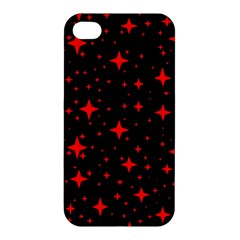 Bright Red Stars In Space Apple Iphone 4/4s Premium Hardshell Case