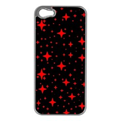 Bright Red Stars In Space Apple Iphone 5 Case (silver)