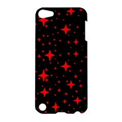 Bright Red Stars In Space Apple Ipod Touch 5 Hardshell Case by Costasonlineshop