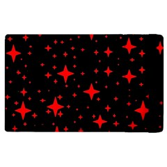 Bright Red Stars In Space Apple Ipad 3/4 Flip Case by Costasonlineshop