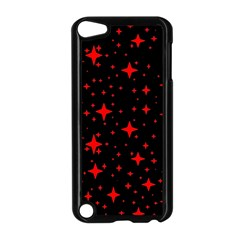 Bright Red Stars In Space Apple Ipod Touch 5 Case (black) by Costasonlineshop