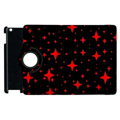 Bright Red Stars In Space Apple Ipad 3/4 Flip 360 Case by Costasonlineshop