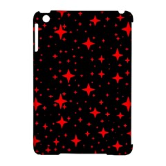 Bright Red Stars In Space Apple Ipad Mini Hardshell Case (compatible With Smart Cover)