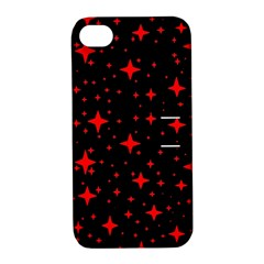 Bright Red Stars In Space Apple Iphone 4/4s Hardshell Case With Stand by Costasonlineshop