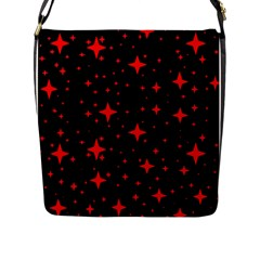 Bright Red Stars In Space Flap Messenger Bag (l)