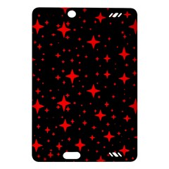 Bright Red Stars In Space Amazon Kindle Fire Hd (2013) Hardshell Case by Costasonlineshop
