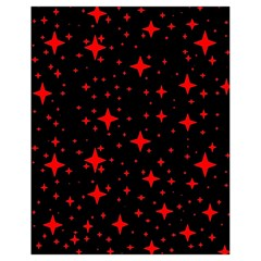 Bright Red Stars In Space Drawstring Bag (small)