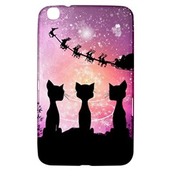 Cats Looking In The Sky At Santa Claus At Night Samsung Galaxy Tab 3 (8 ) T3100 Hardshell Case  by FantasyWorld7