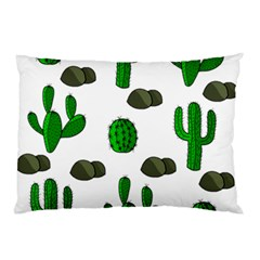 Cactuses 3 Pillow Case by Valentinaart