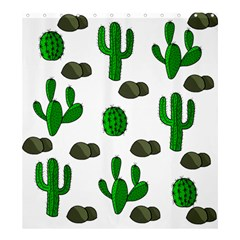 Cactuses 3 Shower Curtain 66  X 72  (large)  by Valentinaart
