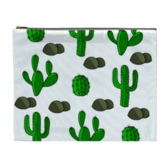 Cactuses 3 Cosmetic Bag (xl) by Valentinaart