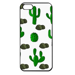 Cactuses 3 Apple Iphone 5 Seamless Case (black) by Valentinaart