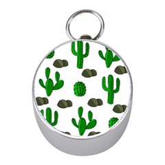 Cactuses 3 Mini Silver Compasses by Valentinaart