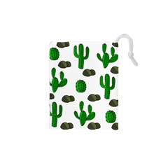 Cactuses 3 Drawstring Pouches (xs)  by Valentinaart