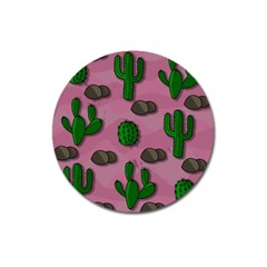 Cactuses 2 Magnet 3  (round) by Valentinaart
