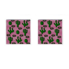 Cactuses 2 Cufflinks (square) by Valentinaart