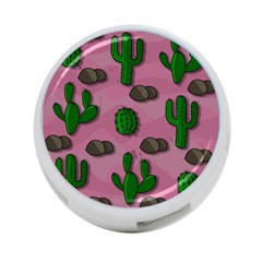 Cactuses 2 4 Port Usb Hub (one Side) by Valentinaart