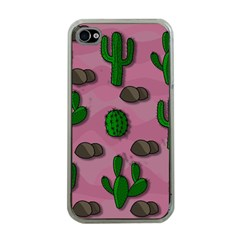 Cactuses 2 Apple Iphone 4 Case (clear) by Valentinaart
