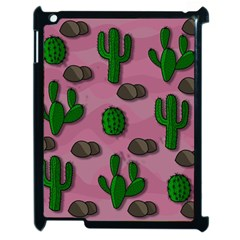 Cactuses 2 Apple Ipad 2 Case (black) by Valentinaart
