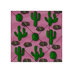 Cactuses 2 Acrylic Tangram Puzzle (4  X 4 ) by Valentinaart