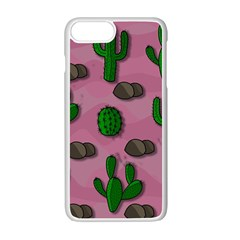 Cactuses 2 Apple iPhone 7 Plus White Seamless Case by Valentinaart